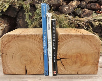 Reclaimed Bookends or Corbels - Rustic Bookends - Fireplace Corbels - Oak