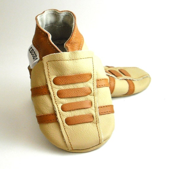 soft sole baby shoes leather infant sport beige brown 18 24m