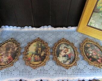 4 vintage brass frames / Vintage brass 4 frames