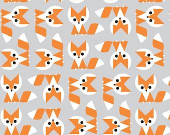 FREE SHIP 1/2 Yard Fox - Picture Pie by Ed Emberley - Cloud9 100% Organic Cotton Fabric