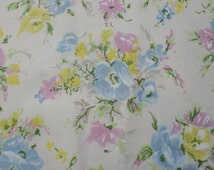Vintage Summer Flower Fabric, Pastel Flower Floral Cotton Sewing Quilting Fabric Material, Peter Pan Fabric 2 yards