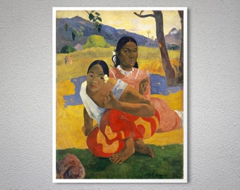 Nafea faa ipoipo, When will you Marry by Paul Gauguin - Poster Paper, Sticker or Canvas Print / Gift Idea