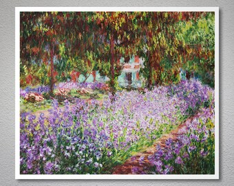The Artist's Garden at Giverny, 1900   by Claude Monet - Poster Paper, Sticker or Canvas Print