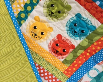 Robert Kaufman, Roar Lion Baby Quilt
