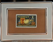Gift for New Pharmaceutical Pharmacy Graduate, Gift for Favorite Pharmacist,  Framed Commemorative Stamp, Affordable Gift  #127