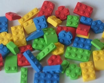 Edible building blocks 44pc for cakes and cupcakes