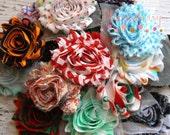 Grab a Bag - PRINT Shabby Rose Trim - Shabby Rose Trim - Chiffon Flowers - Random/Assorted Printed - Hair Accessories Supplies