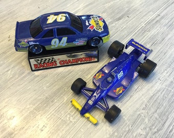 Die Cast Formula Sunoco #66 Mark Donohue 1989, Nascar Ultra Sunoco Racing Champions #94 1991 Terry Labonte Oldsmobile, Vintage Race Car Set
