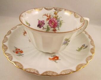 German Porcelain Breakfast Cup/Saucer