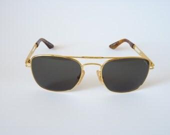 Daytona Safilo vintage Italian sunglasses 1990s slim aviator style