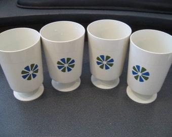 Retro Accalac David Douglas Drinking Cups, Set of Four