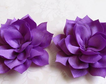 Purple Fabric Lotus Flower / 2 pc set