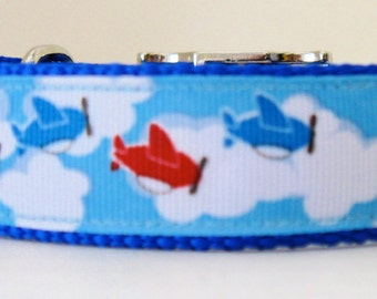 Boy Dog Collars, Manly Collars for Large Boy Dogs, Ribbon Collars for Large Dogs, Matching Leads, Key Fobs,