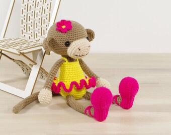SALE -50% | Ballerina monkey - Amigurumi monkey