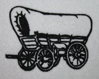 Covered Wagon Digitized Machine Embroidery Design Country Vehicle