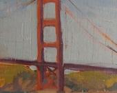 Golden Gate Bridge - Plein Air - Oil Painting - San Francisco - Landscape - Seascape - Bridge - Span - Northern California - Norcal