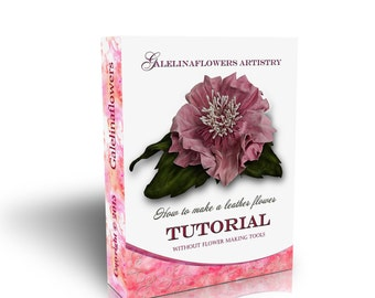 LEATHER FLOWER  making tutorial,    WITHOUT  flowermaking tools, Japanese  technique,  pdf e book
