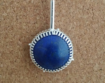 Lapiz lazuli Necklace Lapiz Lazuli Jewelry Gemstone Pendant Sterling Silver Lapiz lazuli Natural Lapiz Lazuli Lapis Necklace