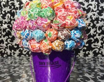 Purple Dum Dum Lollipop Bouquet / Centerpiece
