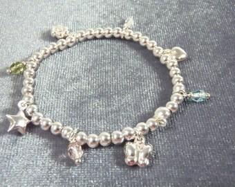 Sterling Silver Small Silpada Stretch Charm Bracelet B70