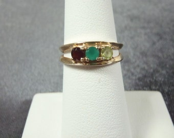 14k Gemstone Ring Sz.6 GR1