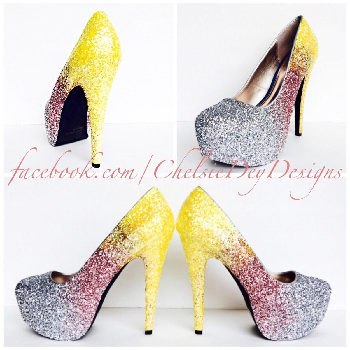 Hot Pink Glitter High Heels