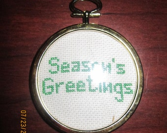 Season's Greeting Christmas Tree Ornament