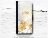 """iPhone 6S Case Wallet, iPhone 6 Wallet Case Floral, iPhone 6s Case """"White Velvet"""" by I. Abolina, iPhone 6S Flip Wallet Case, Wallet Case I66"""