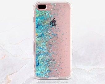iPhone 8 Case iPhone X Case iPhone 7 Case Teal Splatter Clear GRIP Rubber Case iPhone 7 Plus Clear Case iPhone SE Case Samsung S8 Case U53