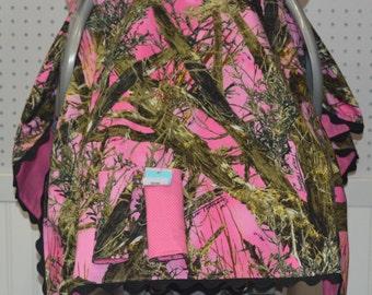 Baby Car Seat Canopy Girl/True Timber Camo