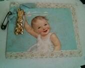 Adorable peru spanish baptism bautizaron juan paper reduced price delight religious padres art shrine baby boy bottle bunny charm church
