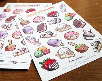 Sweet Dessert Sticker Sheet