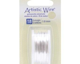 Beadalon Artistic Wire 18-Gauge Tarnish Resistance Silver Wire, 4-Yard