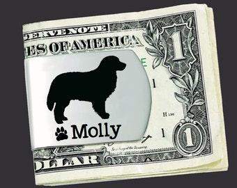 Bernese Mountain Dog Money Clip   Bernese Mountain Dog   Custom Money Clip   Dog Gift   Fathers Day   Gift for Men   Korena Loves