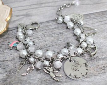Mother of an Angel Bracelet | SIDS, Infant Loss PAIL Bracelet | Miscarriage Jewelry | Miscarriage Support Bracelet | SIDS jewelry