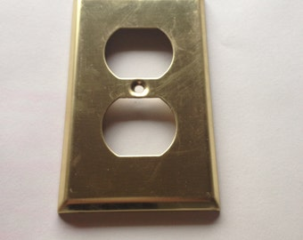 4 brass electrical outlet covers electrical switch covers decorative switch plate outlet cover