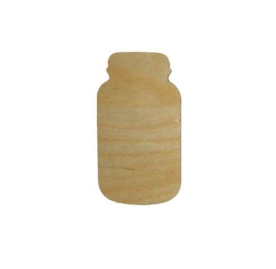 Mason Jar Shape Wood Cut Out Unfinished Wooden Shapes 6