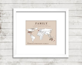 Family Map: World