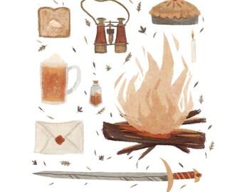 "Gryffindor House 8x8"" print"