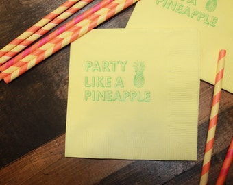 Party Like a Pineapple Cocktail/Beverage Napkins