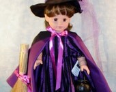 18 Inch Doll Clothes - Purple Striped Witch Halloween Costume handmade by Jane Ellen to fit 18 inch dolls