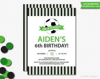 Soccer Invitation Printable Soccer Party Invitation Birthday Invitation Soccer Party Invite Digital Invitation Sports Invitation