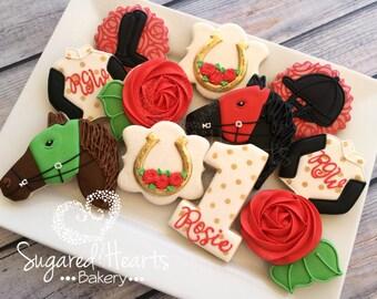 Kentucky Derby Equestrian First Birthday Cookies - 1 Dozen