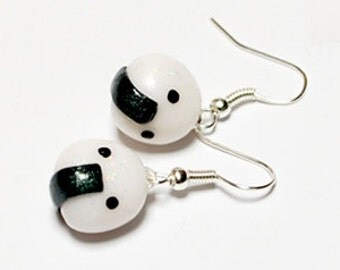 Onigiri sushi earrings