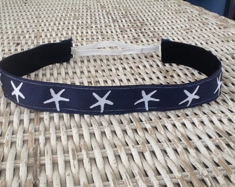 Navy Blue Star Fish Headband - Girls fashion Headband