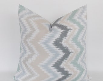 Decorative Pillow Cover, Zigzag Throw Pillow, Chevron Throw Pillow Cover 16,18,20,22,24,26,28,30,32 inch Chevron Accent Pillows