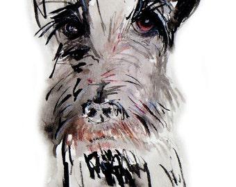 Scottie Dog Art Print Scottish Terrier  #182