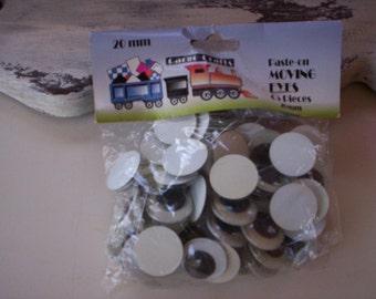 Doll supply/Plastic doll eyes/Folk art doll supply/Doll eyes supply/Doll parts/Doll making supply/Vintage doll supply/paste on moving eyes