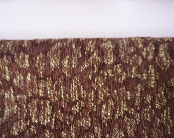 Corduroy abstract fabric/Vintage abstract fabric/sewing supply/Corduroy brown fabric/woven edge fabric/25'' by 25'' fabric/craft supply