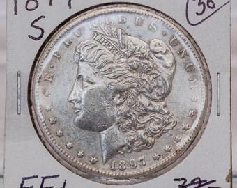 Morgan Silver Dollar 1897-S